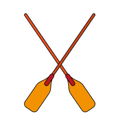 paddle vector image