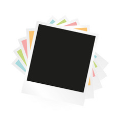 Photo frame collage vector