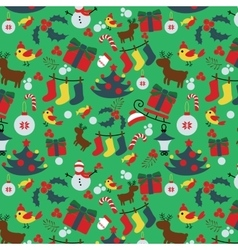 Seamless Christmas traditional pattern New Year vector image vector image