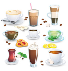 Set of non-alcoholic beverages vector