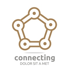 star connecting design icon element vector image