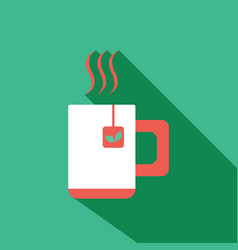 team and coffee cup icon flat vector image vector image