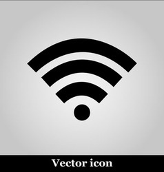 Wi fi icon on grey background vector