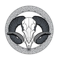 With goat skull vector