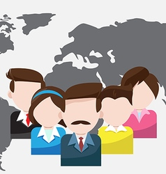 World business people teamwork cartoon vector