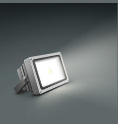 Floor illuminated spotlight vector