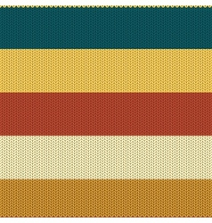 Striped coloured knitted backround vector