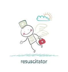 Resuscitator flies to the patient vector
