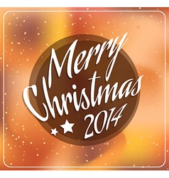 2014 Christmas and new year Themed frame vector image vector image