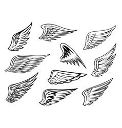Heraldic wings set vector image