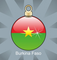 Burkina Faso flag on bulb vector image