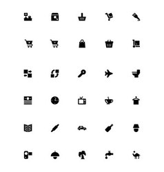 Mini icons 24 vector