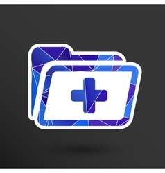 Medical health record folder flat icon for vector