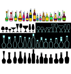 Alcohol assortment vector