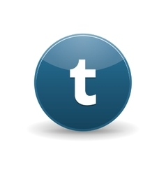 Tumblr icon simple style vector