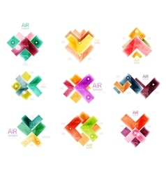 Arrow geometric banner vector