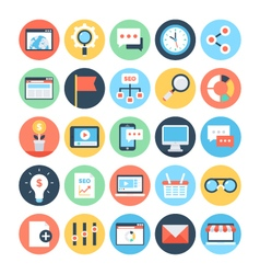Digital marketing icons 3 vector