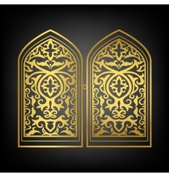 Islamic window vector