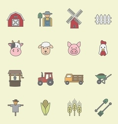 Farming icon vector image