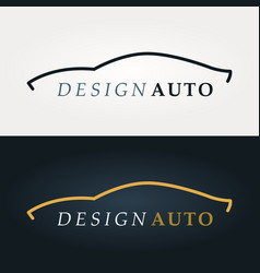 Automotive icon car silhouette vector