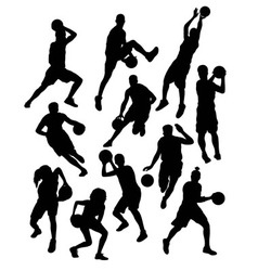 Basketball Sport Activity Silhouettes vector image vector image