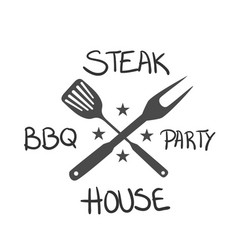 Bbq steak bbq party house image vector