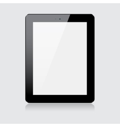 Black tablet vector image vector image