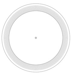 Blank protractor isolated on background vector