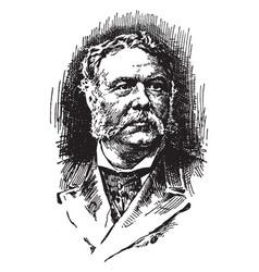 chester alan arthur vintage vector image vector image