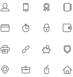 concept icons material design style vector image vector image