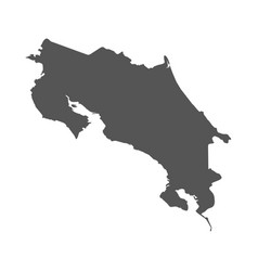 Costa rica map black icon on white background vector