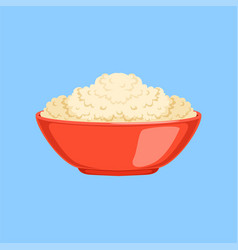 Cottage cheese in a bowl fresh and healthy dairy vector