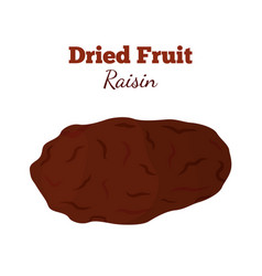 Dried fruit - raisin made in cartoon flat style vector