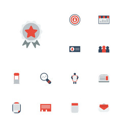 flat icons journal market message and other vector image vector image