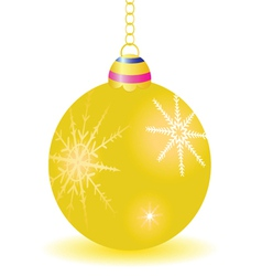 Gold ball for decoration vector