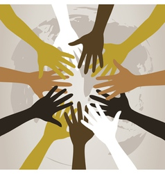 hands to last against the world a vector image