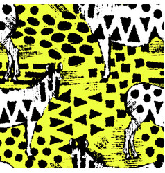 ink hand drawn seamless pattern with fancy zebras vector image
