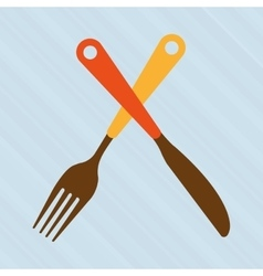 kitchen utensils design vector image vector image