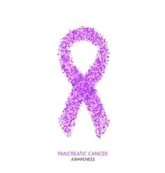 modern pancreatic cancer awareness circles vector image