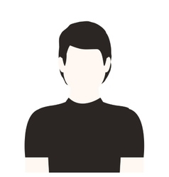 Monochrome half body man without face vector