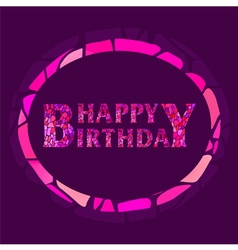 mosaic Happy Birthday Greeting Card vector image