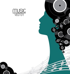 Music vinyl poster vector