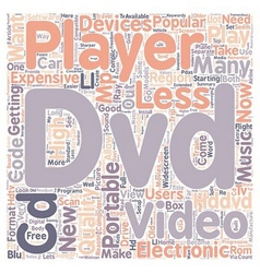 New and old dvd players text background wordcloud vector