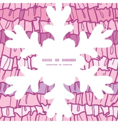 Pink ruffle fabric stripes christmas snowflake vector