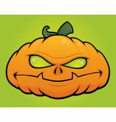 pumpkin monster vector image vector image