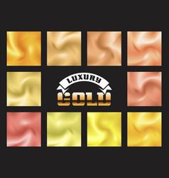 set of gold pattern background vector image