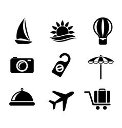 Set of travel and tourism icons vector image vector image