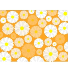 Simple seamless daisy background vector image vector image