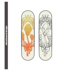Skateboard Design Abstract Mushroom Three vector image vector image