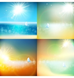 Summer background with burst EPS 10 vector image